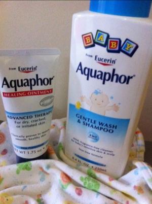 aquaphor lotion and baby shampoo