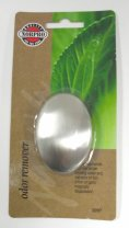 silver soap shaped odor remover bar in nopro packaging